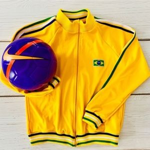 Boy's Yellow Soccer Football Jacket Size 14 Youth